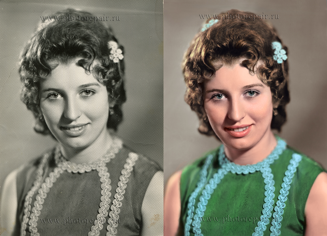 Восстановление цветов в старых фото