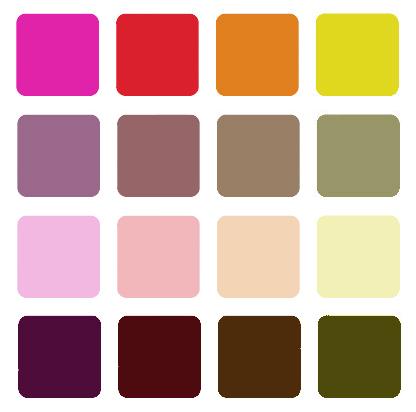 активные цвета и насыщенность
