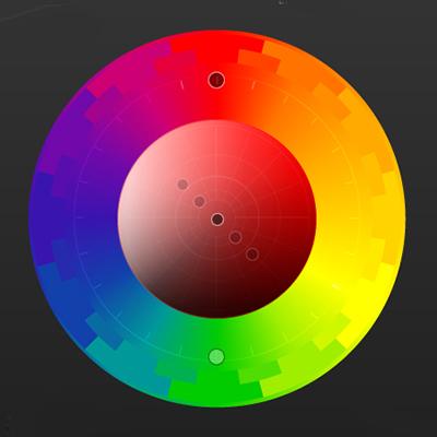 цветовой круг RYB