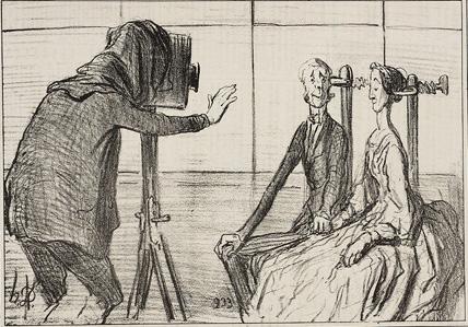 карикатура Оноре Домье, фотосъемка