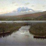 Адольфо Фарсари «Вид на Фудзи из города Кашивабара»