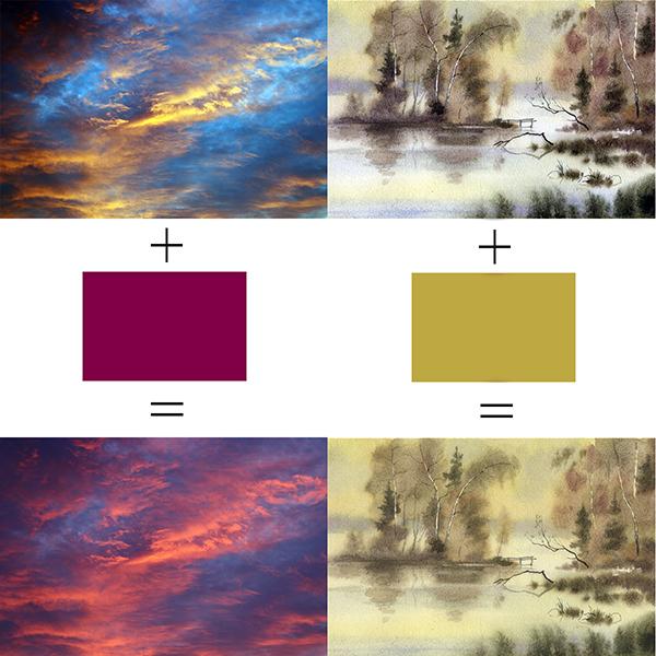аналоговая гармония цвета