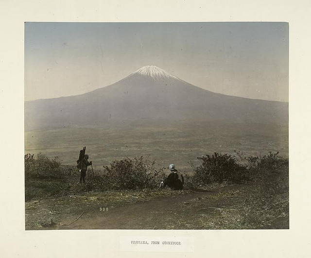 японское фото «Вид на Фудзи с Отометоге»