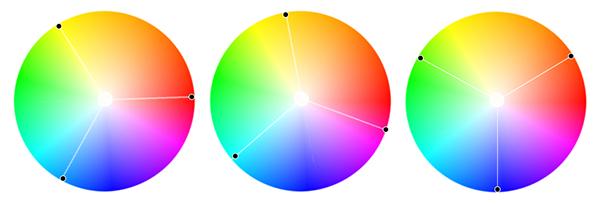 триадные цветовые схемы на
