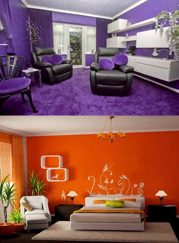 интерьеры в одном цвете выглядят интересно и оригинально на картинке, однако обилие одного цвета в помещении быстро утомляет