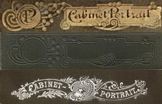 оформление картонного бланка старинной фотографии