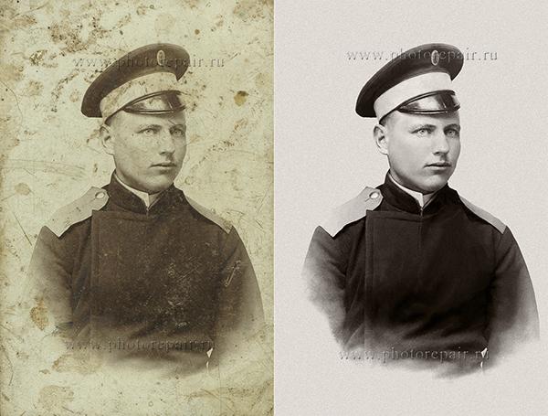 пример реставрации старой фотографии