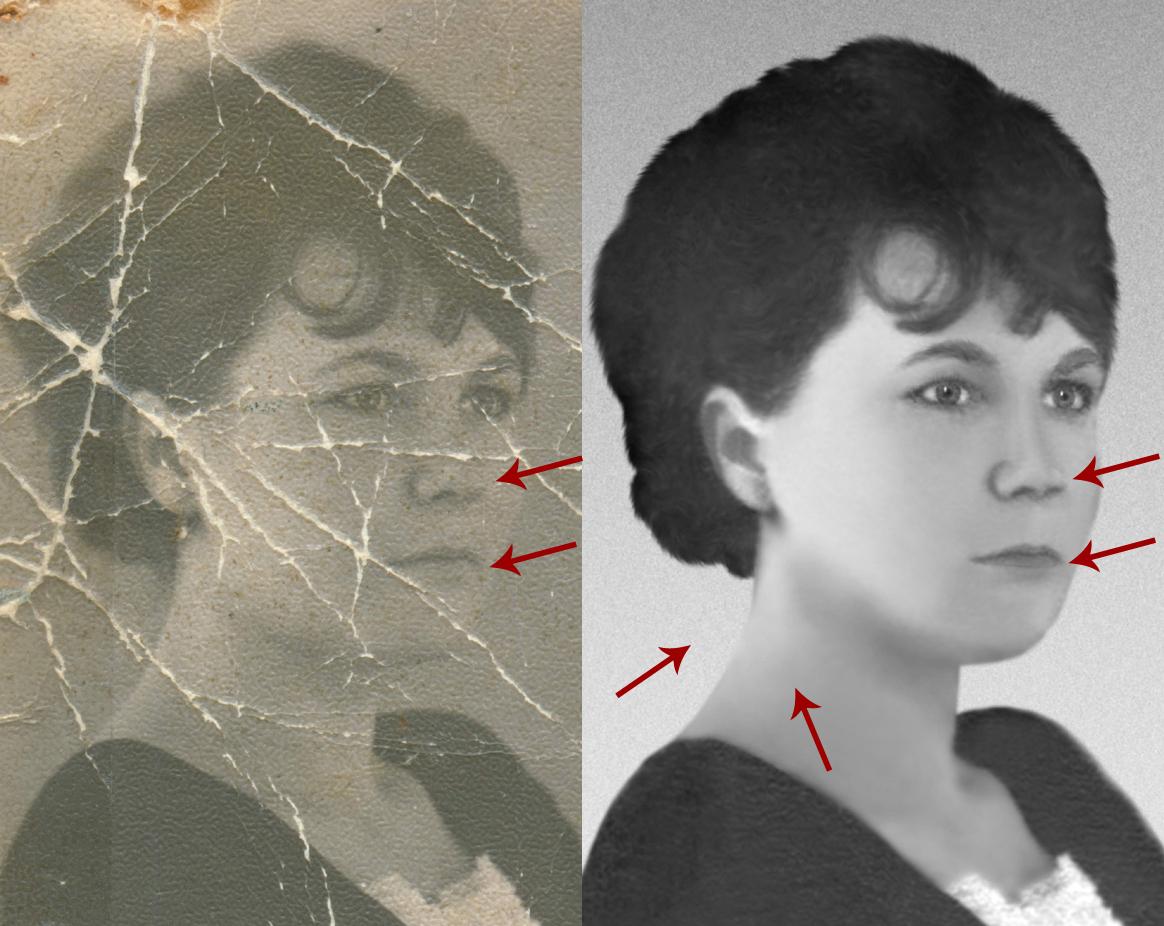 ошибки реставрации фото