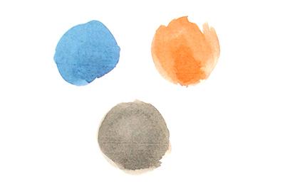 синий оранжевый