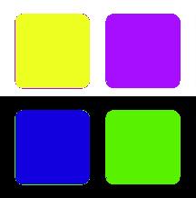 дополнительные цвета RGB
