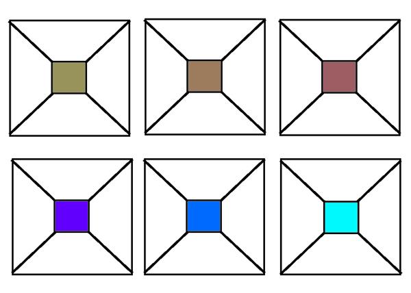 отступающие и выступающие цвета