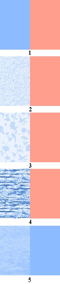 приближающие и удаляющие цвета и фактуры