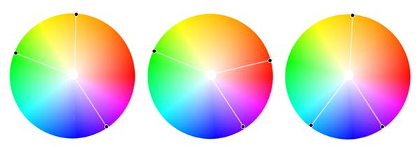 раздельно-комплементарная цветовая схема