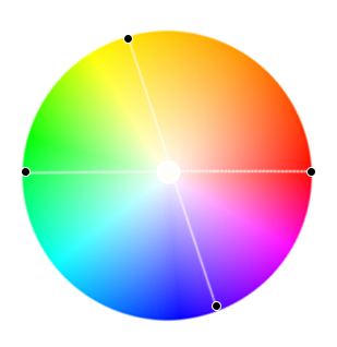 цветовая схема тетрады, прямоугольник