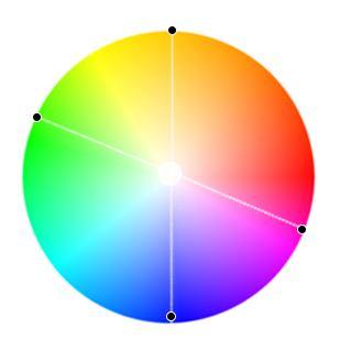 прямоугольная цветовая схема