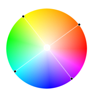 тетрадная цветовая схема