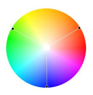 триадная цветовая гармония