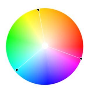 триадная цветовая схема